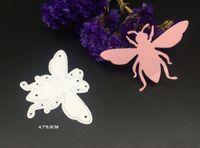 Wholesale Gift Albums - Cute bee sketch outline metal cutting dies stencils DIY Scrapbooking album frame envelope gift decorative steel cutting dies