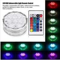 RGB LED Underwater Light Batterie IP67 étanche à la piscine LED LED submersible pour Party Piscine Pond