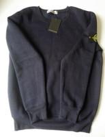 Wholesale Velvet Sweatshirts Hoodies - Fast shipping 2017 autumn winter Men's O-Neck long sleeve Hoodies island Thickened, Stone plus velvet Hoodies Sweatshirts
