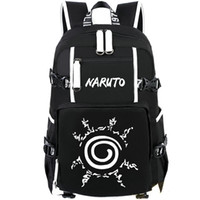 Wholesale Backpack Pictures - Printing picture backpack Naruto daypack Rune logo schoolbag Cartoon rucksack Sport school bag Outdoor day pack