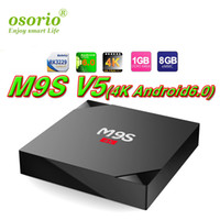 Wholesale Play Install - RK3229 M9S V3 android 6.0 tv boxes KDplayer 17.3 installed 4K HDR H.265 HEVC 3D Movies play Private model 1GB 8GB WIFI Internet TV Box media