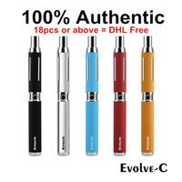 Wholesale Moq C - MOQ=5pcs Authentic Yocan Evolve-C Kits Wax Vaporizer Pen Kit With Wax Atomizer Oil Tank 2 in 1 E Cigarette Kits No-leakage 650mAh Vape Pen