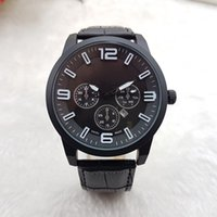 Wholesale Leather Strap Sale - Hot Sale 2017 New Fashion Dress Luxury Design Men Watch Casual Leather Strap Quartz Watch Montre Clock Relojes De Marca Wristwatches Gift