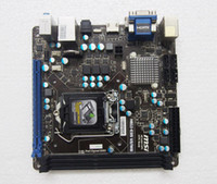 Wholesale Msi Mini - h61i-e35 v2 w8 For MSI H61 Motherboard With IO Shield Socket 1155 LGA1155 Mini ITX PCIE 3.0 Fiber