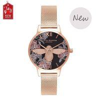 Wholesale Lady Super Hot - Super Quality Hot Diamonds Brand Women Dress Watches Gold Steel Mesh Fashion Quartz Watch Student Wristwatches Ladies Hours 2017 New