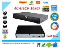 Wholesale Cms H 264 Cctv - Lucker Security 4CH 8CH H.264 CCTV NVR Support Onvif iCloud Surveillance CMS P2P Alarm NVR Free Shipping