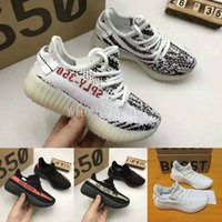 Wholesale core air - Kids Boost 350 V2 Beluga Zebra Core Black Red Triple White Cream White Shoes,Boys Girls Children Sply 350 v2 Shoes Size 28-35