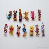Wholesale Blue Plastic Bear - Mickey Bears Animal 2017 Mini Action Figures Gashapon Gachapon Capsule Toys Mini Figures Cute for children Christmas Gifts