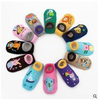 Wholesale Children Socks Wholesale Floor - 2017 Children Floor Socks Fox Spring Autumn Fashion Cartoon Animals Monkey Lion Printed Baby Socks Popular Kid Boat Socks DHL free Shipping