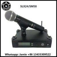 Wholesale teaching microphones - 2018 best quality professional teach uhf china 572-820mhz karaoke handheld wireless microphone mic SLX14 SLX4 SLX SLX24 58a microphone