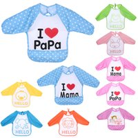 Wholesale dress bibs - Baby Overclothes Inside Your Baby To Eat Clothes Dressing Down Waterproof Overalls Bibs & Burp Cloths