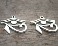 Wholesale eye horus pendants for sale - Group buy 10pcs Eye Charms Antique Tibetan silver Egyptian Eye of Horus charms pendants x26mm