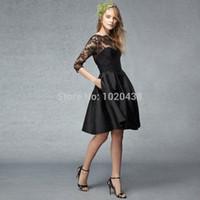 Vestidos negro hasta la rodilla
