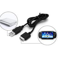 transfert de câble achat en gros de-Chargeur USB câble de charge de transfert de données de synchronisation câble d'alimentation cordon d'alimentation pour Sony psv1000 Psvita PS Vita PSV 1000