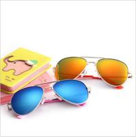 ich rahmen großhandel-Polarisation Kinder Sonnenbrille Brille Junge Mädchen I Metallrahmen Farbfilm Kinder Sonnenbrille, 3462