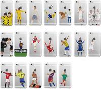 Wholesale Iphone Case Cristiano - Karim Benzema Cristiano Ronaldo Soccer Sports Stars Soft Clear transparent TPU Case for iPhone X 10 8 7 6 6s Plus 5S 5C
