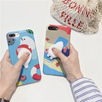 Wholesale Mobile Press - For Iphone X 7 7Plus 6 6s 6 6sPlus Mobile Phone Case Seals Press Decompression Phone Shell Soft Cover Silicone Phone Sets