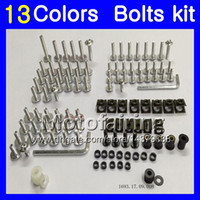 Wholesale 125 Fairing - Fairing bolts full screw kit For Aprilia RS4 125 RS125 12 13 14 15 16 17 RS 125 2012 2013 2014 2015 Body Nuts screws nut bolt kit 13Colors