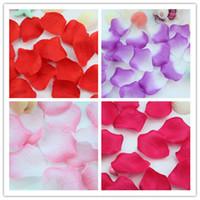Wholesale new years confetti resale online - 1000pcs Flowers Silk Rose Petals Wedding Party Table Confetti Decoration Christmas Decor High Quality Multi Colors