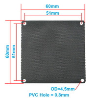 Wholesale computer dust filters - Wholesale- 5pcs lot 6CM Computer Mesh Black PVC PC Case Fan Cooler Dust Filter Dustproof Case Cover,60x60mm