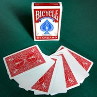 blank playing card deck - 1 Deck Bicycle Blank Face Red Blue Back Playing Cards Gaff Magic Cards Special Props Close Up Stage Magic Tricks for Magician