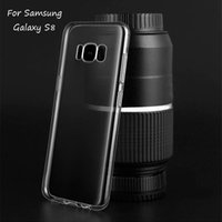 Wholesale Note Cover Slim - Ultra-thin Transparent Cell Phone Case Soft TPU Slim Phone Back Cover For Samsung Galaxy S8 Plus Note 8 S7 S6 Edge
