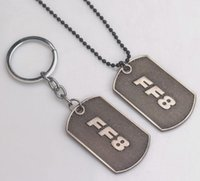 Wholesale Dogtag Pendant - 2017 New Fast Furious 8 with Dogtag necklace FF8 accessories clavicle domineering male and female couple pendant Key Chain jewelry AA182
