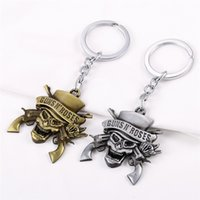 Hard Rock Band Guns N 'Roses / G N' R / GnR Logo Schlüsselanhänger Alloy Key Chain High Quality