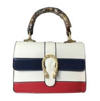 Wholesale Black Leather Sling - 2017 ladies leather luxury handbags women famous brands bags designer shoulder crossbody Bamboo handle sling sac a main