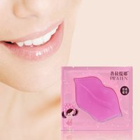 коллагеновые накладки для губ оптовых-Wholesale- 5Pcs Crystal Collagen Lip Mask Plumper Moisture Essence Gel Pads Hydrating Anti-wrinkles Mask For Lip Care Enhancer Remove Lines