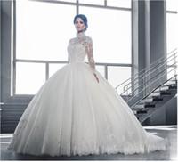 ingrosso acquistare il vestito da cerimonia nuziale del merletto-2019 nuova fabbrica all'ingrosso, pizzo di lusso una parola, spalla, metà e manica lunga sposa abito da sposa, benvenuto a comprare