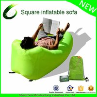 Wholesale Inflatable Air Sofa - Wholesale- Sleeping bag air sofa inflatable lazy bag Air Bed laybag outdoor flocking inflatable lounger Beach Banana Lounge Bag