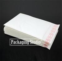 paquetes de invitación al por mayor-Al por mayor-19 * 24 + 4 cm blanco burbuja de invitación de correo de la tarjeta de invitación del envío del envío de envases doblados sobres Envío gratis