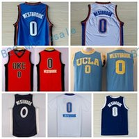 Wholesale Newest Christmas - Newest 0 Russell Westbrook Jersey Shirt UCLA Bruins Russell Westbrook College Uniforms Throwback Christmas Home Road Blue White Orange
