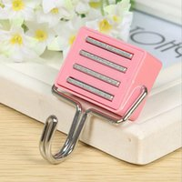 Wholesale Seamless square magnetic hooks refrigerator magnet hook single hook mounted bearing factory cheapest