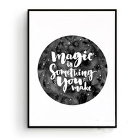 Wholesale Magic Posters - Inspiration Magic Quote Canvas Art Print Poster, Wall Pictures For Home Decoration, Giclee Print Wall Decor