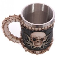 Wholesale China Wholesale Arms - Wholesale- Personalized Stainless Steel 3D Skull Mugs Coffee Cup Gothic Dinner Party Skeleton Arm Goblet Skull Chalice Claw Goblet Wine Cup