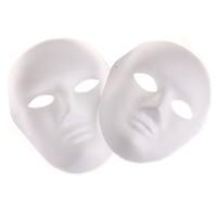 ingrosso costumi di ballo di alta qualità-All'ingrosso- Bianco bianco Masquerade maschera donna uomo danza costume cosplay partito maschera fai da te di alta qualità
