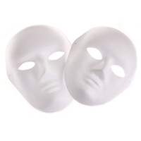 Wholesale Man Masquerade Masks - Wholesale- Blank White Masquerade Mask Women Men Dance Cosplay Costume Party DIY Mask High Quality