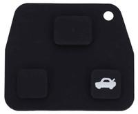 caja de la llave del coche para toyota al por mayor-2016 Nuevo C91 Caja de soporte de llave remota para automóvil Cubierta de goma de 3 botones para Toyota Fácil de instalar Proteger los botones del desgaste excesivo