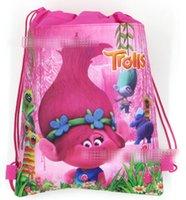 sacos de compras ambientais venda por atacado-27x36 cm trolls Bunch de bolso proteção Ambiental peritoneal não-tecidos sacos de compras 12 pçs / lote