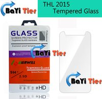 Wholesale Original Thl - Wholesale-For THL 2015 Tempered Glass 100% Official Original Screen Protector Film Phone Case for THL 2015 in Stock Free