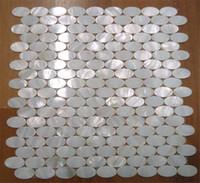 oval estilo blanco chino cscara de agua dulce madre de la cosecha de mosaicos de la perla para la decoracin interior de la casa cocina y azulejos de la