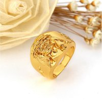 Wholesale Jesus Head Jewelry - New Arrivals 24K Gold Plated Hip Hop Jesus Head Finger Rings Luxury Fashion Jewelry for Men