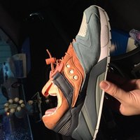 Wholesale Premier Leather - 2017 Premier x Saucony shadow 6000 Life of Mars Pack Dark Grey Orange Unisex Sports Running Shoes Womens And Men Jogging Shoes