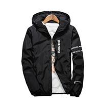 ingrosso giacca casual dei giovani-Moda alta qualità Slim Fit Giacche uomo con cappuccio Giacche sottili Casual Giacca a vento uomo 4 colori