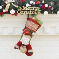 ingrosso calze di lusso di natale-Nuovo design Calze di Natale Sacchetti regalo Decorazioni di Natale Calze di Natale di lusso di grandi dimensioni Calze di caramelle regalo