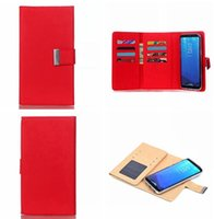 Wholesale Multifunction A3 - Multifunction Wallet Leather Pouch Case For Samsung Galaxy S8 A7 J7 J5 J3 A3 2017 Huawei P10 PLUS MATE 9 PRO Magnetic Fold 2 in 1 Card Cover