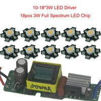 Wholesale Stage Driver - Wholesale- 18pcs 3w full spectrum led 380-840nm +1pcs 10-18x3w 600mA led driver diy 54w led grow light for all growing stage growth