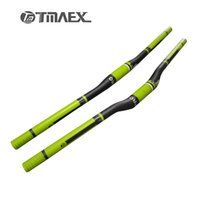 Wholesale Carbon Green Bike Parts - TMAEX Pro Green Super Mountain Handlebar Flat Bar Rise Bar Nice Bar Size 31.8MM Mountain Bike parts Carbon Handlebar
